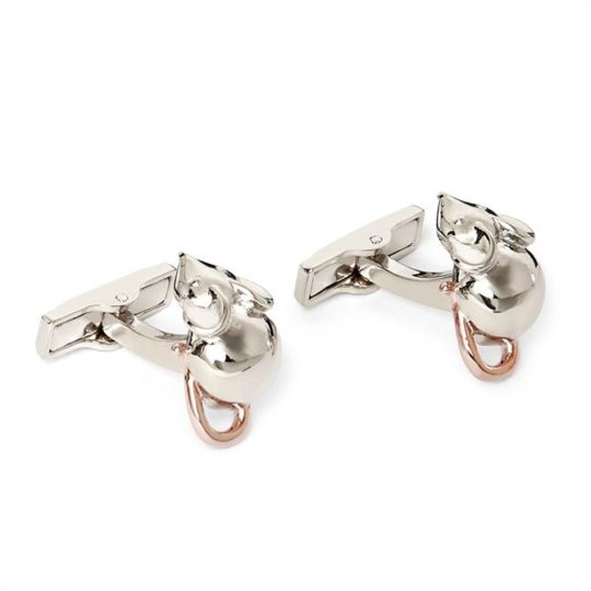 Ted Baker Centrel Mouse Cufflinks Silver 230536 1{w=670,h=670}